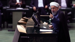 Hassan Rouhani said Iran's economic troubles began when Washington reimposed sanctions on Tehran