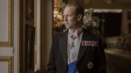 Tobias Menzies as Prince Philip in series three of The Crown