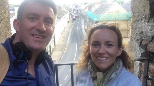 Through The Canvas presenters Cristín Leach and Diarmuid McIntyre