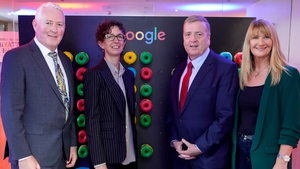 Jonathan McMillan, Manager of Enterprise Ireland Brexit Unit; Fionnuala Meehan, Head of Google Ireland; Miniser Pat Breen, and Caroline Dunlea, CEO of Core Optimisation
