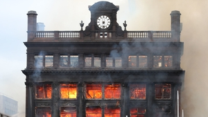 The fire gutted the Bank Buildings which contained a Primark store