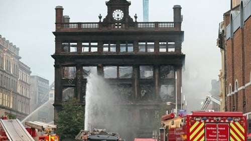 The historic building was gutted in the fire