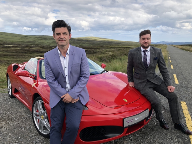 Joe O Shea with super car dealer Adrian Slattery
