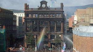 The historic building was devastated by the blaze which took several days to extinguish