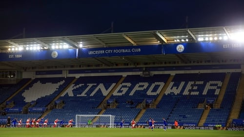 Empty seats at the King Power Stadium for Leicester City v Fleetwood Town on Tuesday night