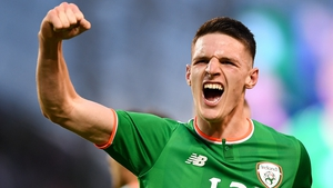 Declan Rice in green