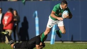 Rob Kearney is action against New Zealand in Chicago in 2016