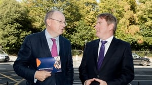 Chief Executive Jeremy Masding said the lender has made significant progress in reducing the level of NPLs. Pictured here with Eamonn Crowley, CFO Permanent TSB