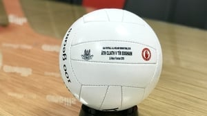 One of the footballs that will be used in the final