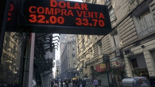 Argentina's peso has lost more than 40% of its value against the US dollar so far this year