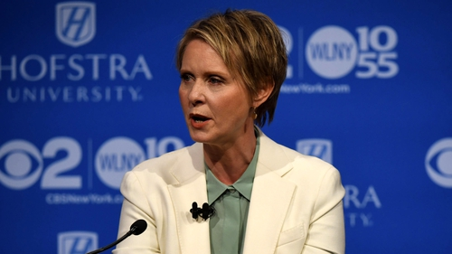 Cynthia Nixon battles Andrew Cuomo over 'sexist' debate hall temperature