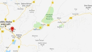 The crash happened on a flight between the eastern city of Dire Dawa and Bishoftu near the capital Addis Ababa (Pic: Google Maps)