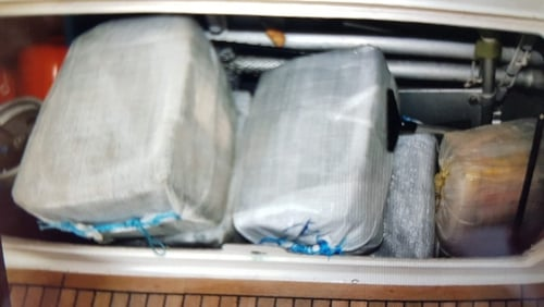 Some of the cocaine seized off the south west coast of Cornwall (Pic: UK National Crime Agency)