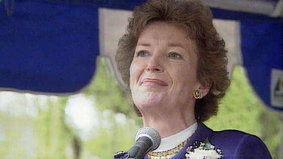 Mary Robinson in Christchurch, New Zealand (1993)