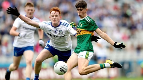 Dylan Geaney (R) scored five points in Kerry's semi-final win over Monaghan