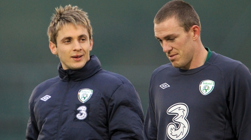 Kevin Doyle, left, will be involved at U17 level while Richard Dunne will lend a hand with Paul Osam's U16 team