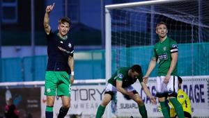 Shamrock Rovers' Ronan Finn celebrates his goal