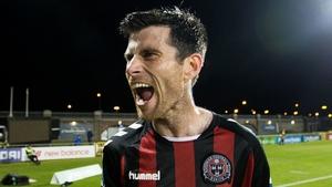 Goal-scorer Corcoran celebrates