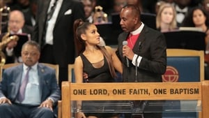 Bishop Charles H Ellis III with Ariana Grande at the Greater Grace Temple in Detroit on Friday