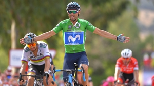Alejandro Valverde takes the stage victory