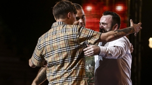 Hugs all round for Danny Tetley