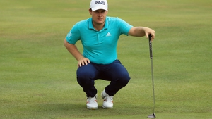Hatton with his off-the-shelf putter