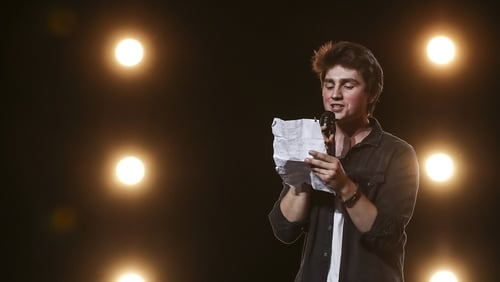Brendan Murray on the X Factor stage