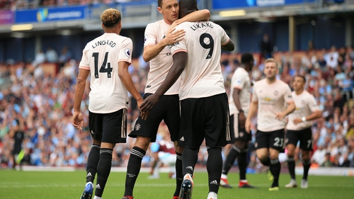 Manchester United battled to a 2-0 victory over Burnely