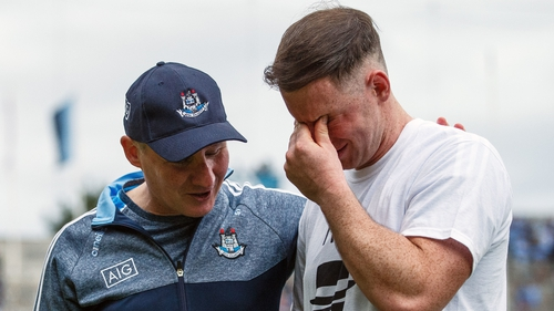 Jim Gavin with Philly McMahon in Croke Park