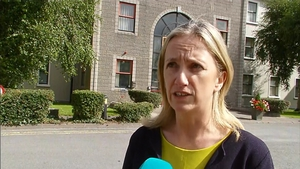 Journalist Gemma O'Doherty was among those addressing the meeting