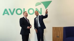 Taoiseach Leo Varadkar and Dómhnal Slattery, CEO of Avolon, pictured at the official opening of Avolon's new global HQ in Dublin today