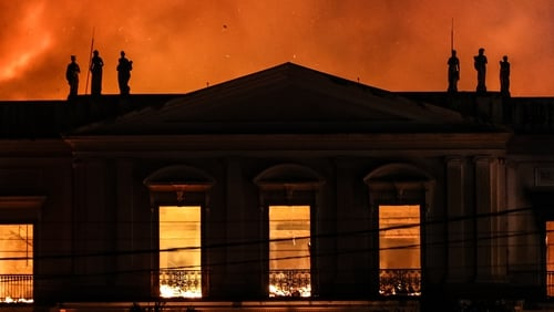 A fire at the museum. Photo: Buda Mendes/Getty Images