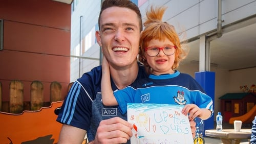 Brian Fenton pictured with Zoe Lonergan, 6 from Firhouse, at Crumlin children's hospital