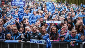 Thousands of Dublin supporters turned out to celebrate their side's victory