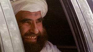 Haqqani network founder Jalaluddin Haqqani in Pakistan in 2001