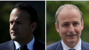 The poll suggests Fianna Fáil gained 3 points, closing the gap on Fine Gael