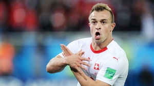 Shaqiri makes the controversial gesture at the World Cup in Russia