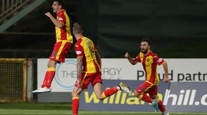 Kris Doolan of Partick Thistle had what appeared to be a perfectly good goal ruled out