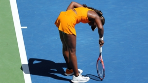 Sloane Stephens was unable to cope with the soaring temperatures in New York