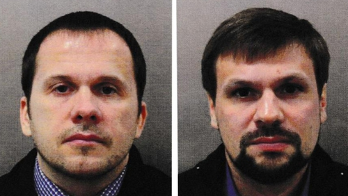 Alexander Petrov (L) and Ruslan Boshirov left the UK on 4 March (Pic: Met Police)
