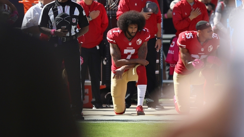 Colin Kaepernick, who protested against social and racial inequality in the United States by kneeling during pre-game anthems, has been chosen to help mark the 30th anniversary of the brand's famous Just Do It slogan.