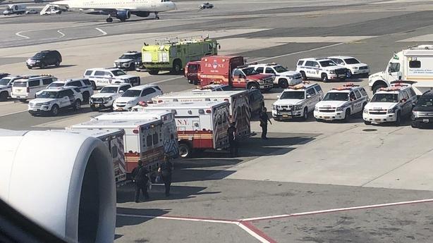 Ambulances on standby as a precaution