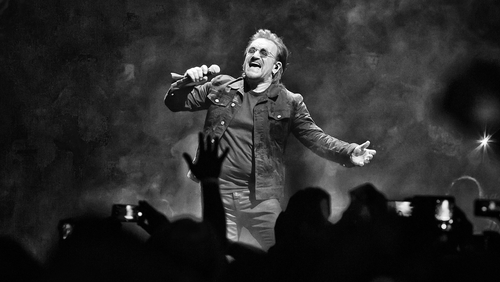 Bono has gotten his voice back as the band continue their tour in Cologne