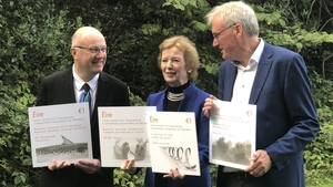 Former president Mary Robinson helped unveil the stamps