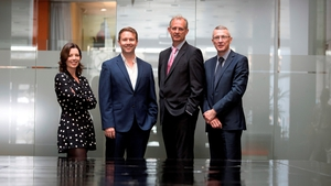 Helen Norris from Kernel Capital; Dr John Ghent, CEO of Sytorus; Peter Lennox from Enterprise Ireland and Donal Duffy from Bank of Ireland