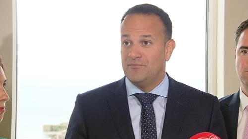 Leo Varadkar is in Galway for Fine Gael's meeting ahead of the new Dáil term