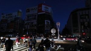 The earthquake caused an electrical blackout in Sapporo