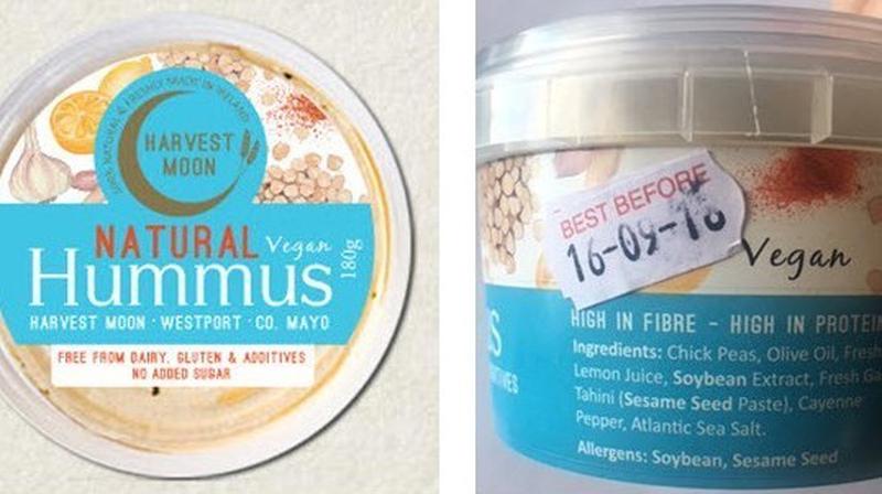 harvest moon hummus recalled over listeria fears