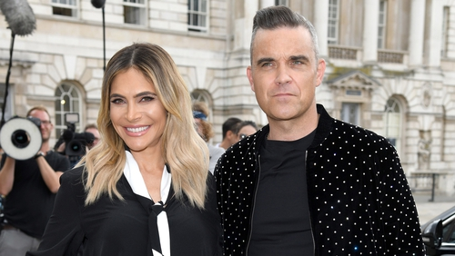 Robbie Williams with his wife, Ayda Field