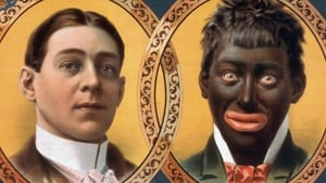 An image from a vintage poster promoting a minstrel show